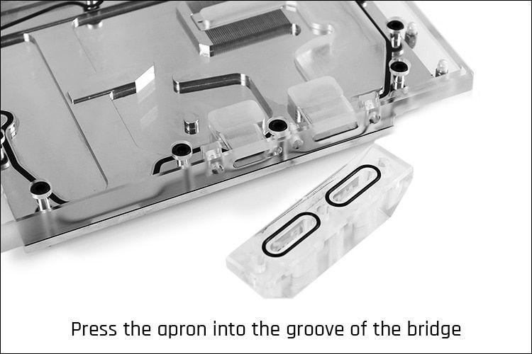Barrow Multifunctional Acrylic Change Direction Top-Side GPU Block Bridge for Barrows GPU Water Block